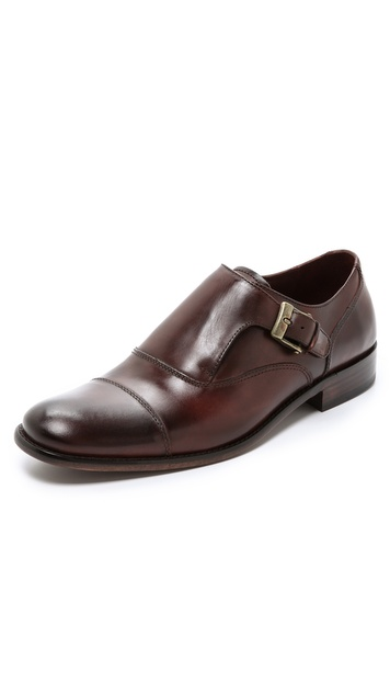 John Varvatos Star USA Luxe Monk Strap Oxfords