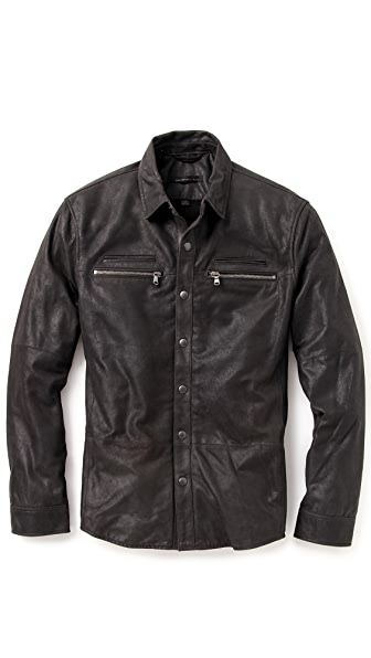 John Varvatos Star USA Leather Shirt Jacket