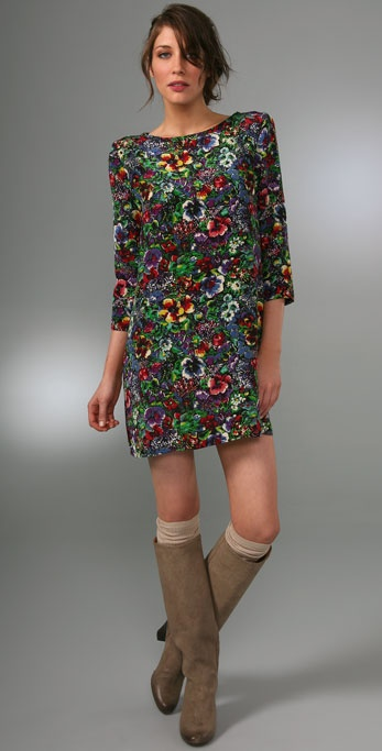 Joie Topekette Dress with Shoulder Pads
