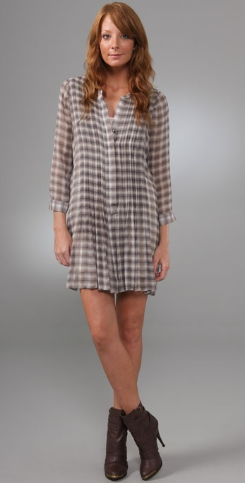 Joie Avina Grunge Plaid Dress