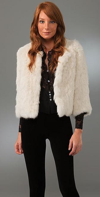 Joie Spence Rabbit Fur Jacket