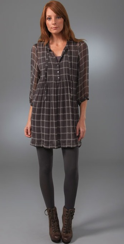 Joie Campbell Plaid Dress