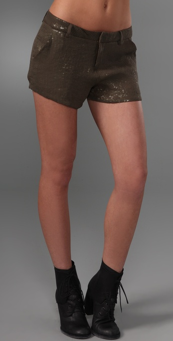 Joie Finch Silk & Sequin Shorts