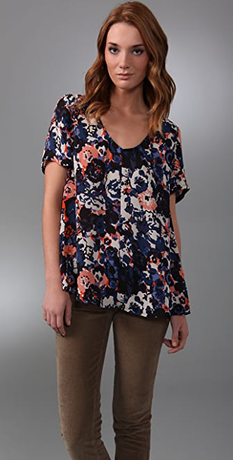 Joie Abstract Floral Marika Blouse