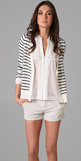 Joie Miley Stripe Cardigan