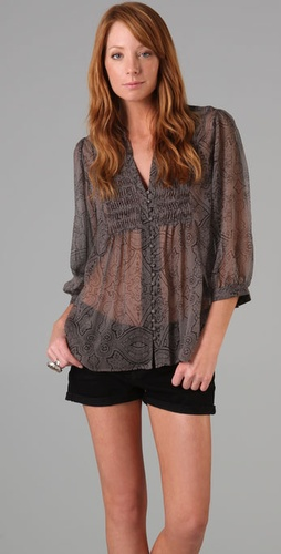 Joie Denisa Paisley Blouse