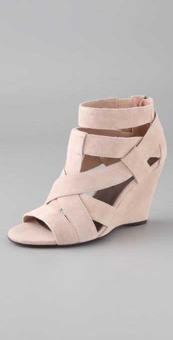 Joie Royce Suede Wedge Sandals