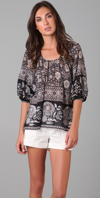 Joie Nancy Happy Print Blouse