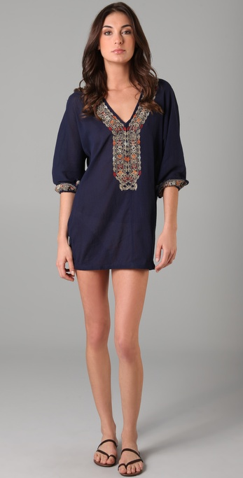 Joie Joie a La Plage Embroidered Bahamas Tunic