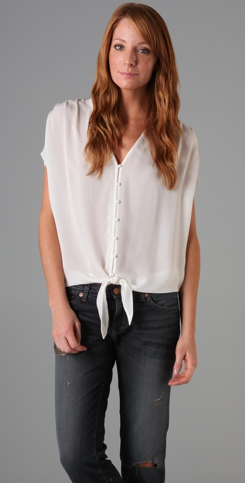 Joie Baxter Button Top