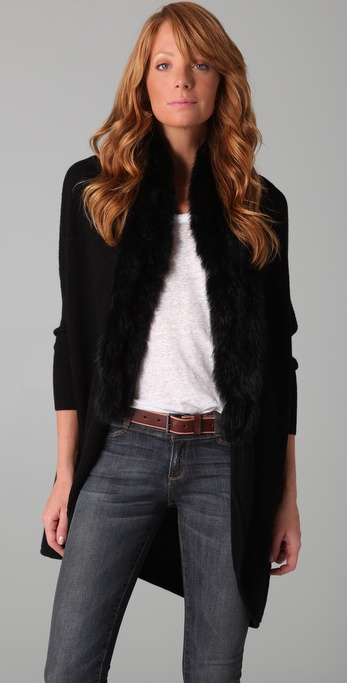 Joie Trevista Sweater with Fur Trim