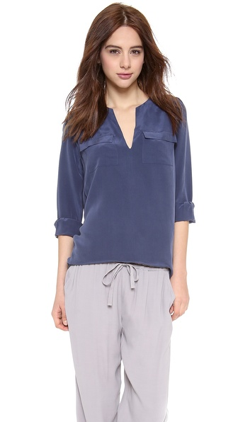 Joie Marlo Blouse - Dark Navy at Shopbop / East Dane