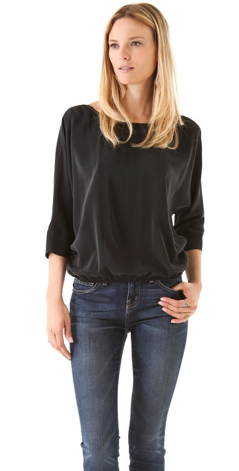 Joie Liza Blouse - Caviar at Shopbop / East Dane