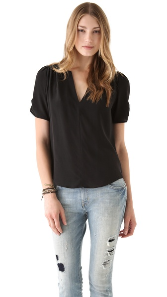 Joie Amone Blouse - Caviar at Shopbop / East Dane