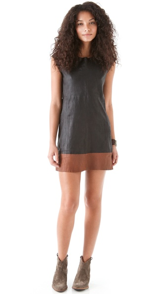 Joie Aloisa B Leather Dress