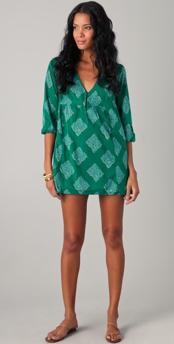 Joie Collie Medallion Print V Neck Cover Up