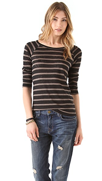 Joie Alpine Heather Stripe Top