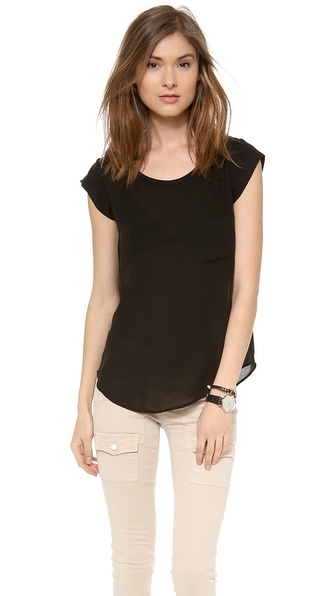 Joie Rancher Silk Top - Caviar at Shopbop / East Dane