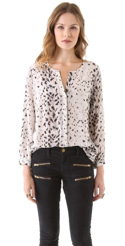 Joie Purine Snow Leopard Top