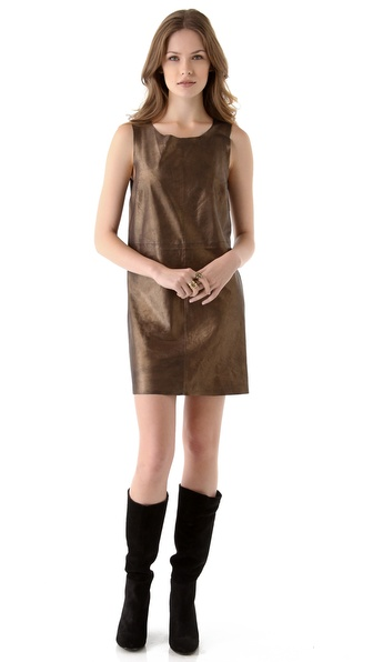 Joie Sonata Leather Dress
