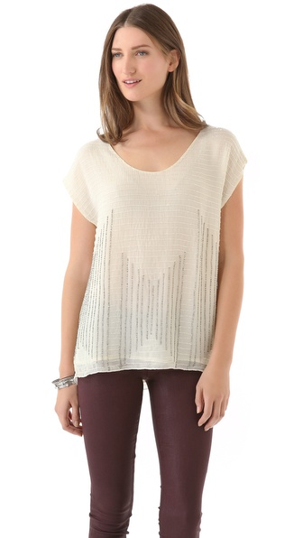 Joie Circa Embellishment Top
