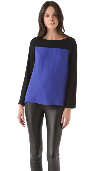 Joie Aliso Colorblock Top