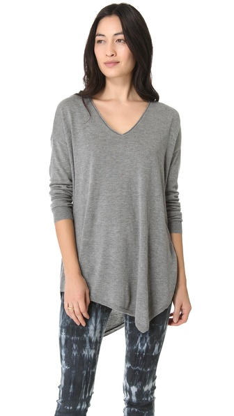 Joie Armelio V Neck Top - Heather Grey at Shopbop / East Dane
