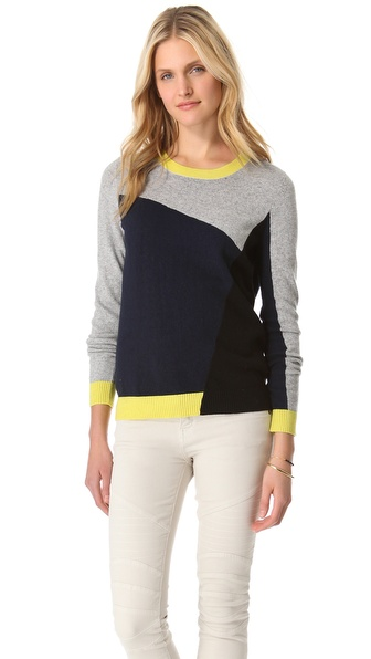 Joie Emani Patchwork Sweater