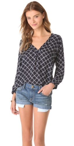 Joie Lerona Print Plaid Top at Shopbop.com
