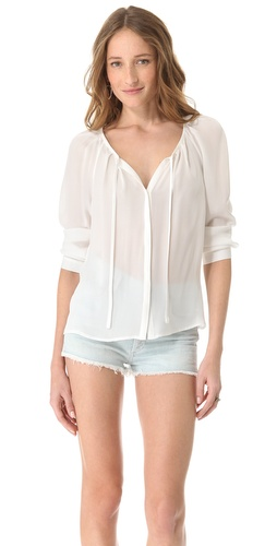 Shop Joie Devin Silk Blouse and Joie online - Apparel,Womens,Tops,Blouse, online Store
