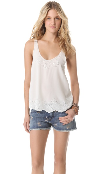 Joie Boyd Embroidered Silk Tank