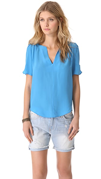 Joie Amone Silk V-Neck Top