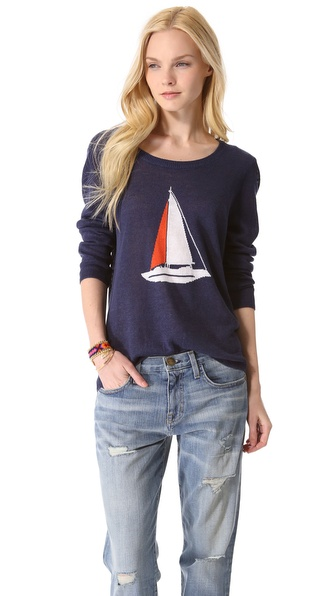 Intarsia Sweater :  joie navy shop style