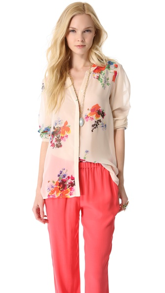 Silk Blouse :  floral blouse shopbop joie
