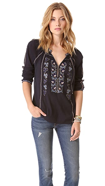 Joie Chava Embroidery Top