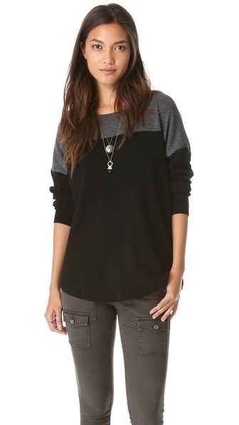 Joie Arnie B Sweater - Dark Heather Grey/Caviar at Shopbop / East Dane