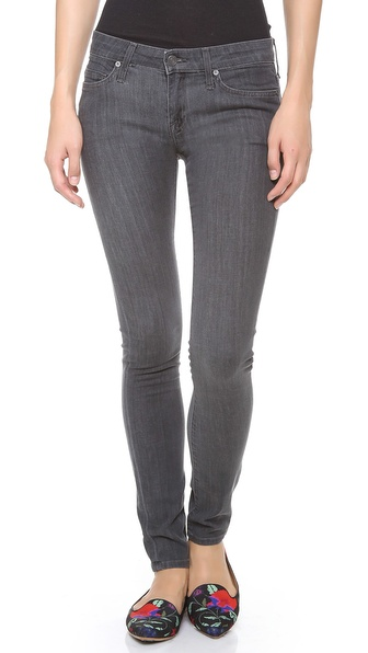 Joie Mid Rise Skinny Jeans - Smoke at Shopbop / East Dane