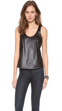 Joie Rain D Leather Top