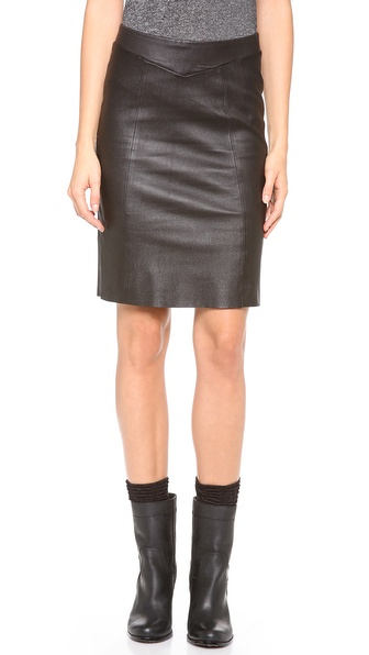 Joie Sariden Leather Skirt