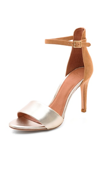 Joie Jaclyn Ankle Strap Sandals - Nude/Platinum at Shopbop / East Dane