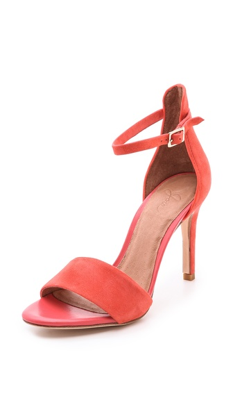 Joie Jaclyn Suede Sandals - Coral at Shopbop / East Dane