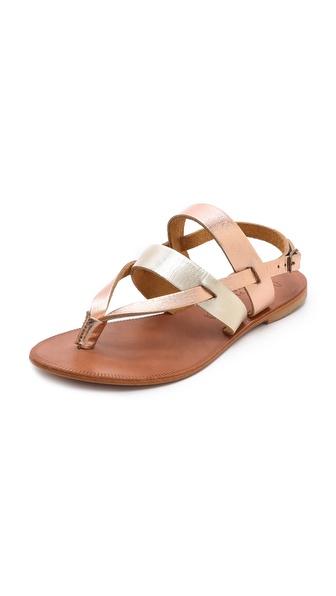 Joie A La Plage Positano Metallic Flat Sandals