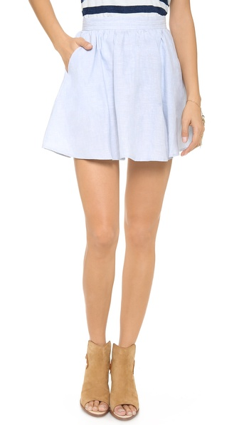 Joie Kaylea Skirt - Light Washed Chambray at Shopbop / East Dane