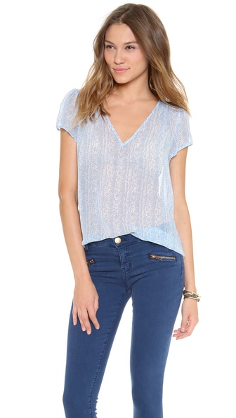 Joie Jenlee Blouse - Dusty Chambray at Shopbop / East Dane