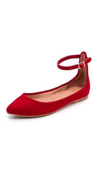 Joie Temple Ankle Strap Flats