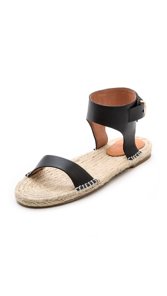 Shop Joie online and buy Joie Pima Espadrille Sandals - Black - A braided jute sole lends a casual, vacation ready feel to sturdy leather Joie sandals. A button closure secures the ankle cuff. Rubber sole. Leather: Cowhide. Imported, China. This item cannot be gift boxed. Available sizes: 36,36.5,37,37.5,38,38.5,39,39.5
