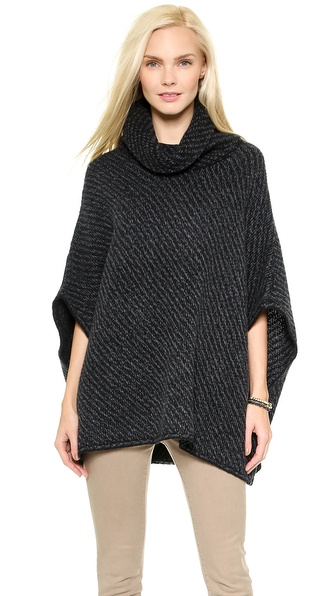 Joie Stellan Sweater - Caviar/Marled Dark Grey