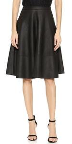 kendrine leather skirt