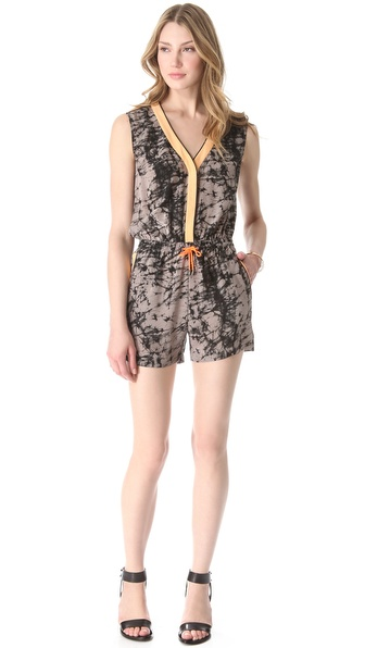 Jonathan Simkhai Tie Waist Romper