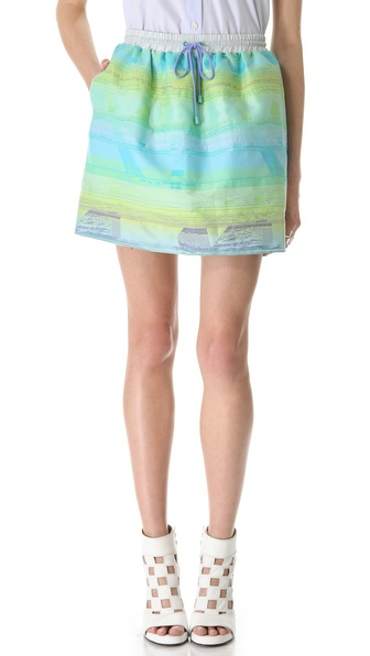 Jonathan Simkhai Drawstring Puff Skirt